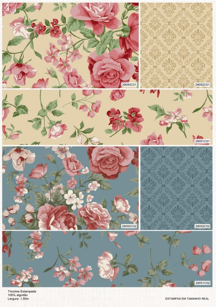 Catalogo Colecao Roses in Bloom fundo bege