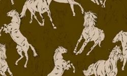 30648C02 Coleção Haras cavalos fundo marrom
