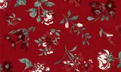 29050C03 Coleção Roses in Bloom Flores Grandes Verde Vermelho