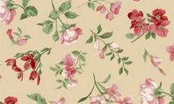 29051C01 Coleção Roses in Bloom Flores Médias Bege Rosa Verde