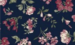 29051C04 Coleção Roses in Bloom Flores Médias Azul Rosa Verde