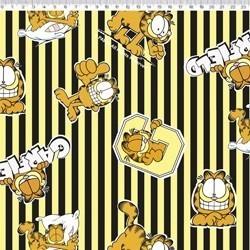 GA012C01 Coleção Garfield garfield com listras amarelo