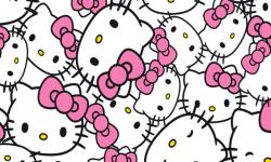hk001c01 Coleção hello kitty heads fd branco