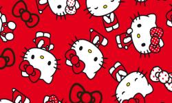 hk002c02 Coleção hello kitty lances fd vermelho