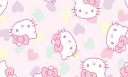 hk006c02 Coleção hello kitty love fd rosa