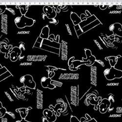 SN019C01 Coleção Snoopy snoopy black and white