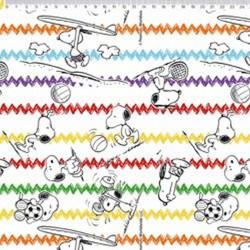 SN020C01 Coleção Snoopy snoopy chevron fd branco