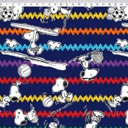 SN020C02 Coleção Snoopy snoopy chevron fd marinho